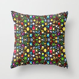 Stained Glass-3 Throw Pillow