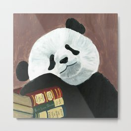 Romantic Panda from Animal Society Metal Print