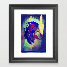 PRIMITIVE LION - 014 Framed Art Print