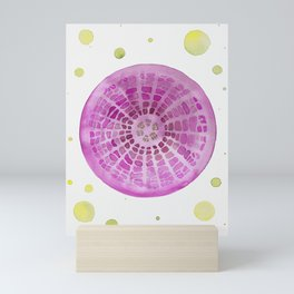 Microscopic - Diatoms - Fuchsia Palette Mini Art Print