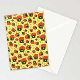 Trippy yellow persimmons Stationery Cards