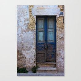Blue Cracks n. 35 Canvas Print