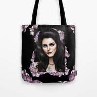 ultraviolence Tote Bags featuring Ultraviolence by Denda Reloaded