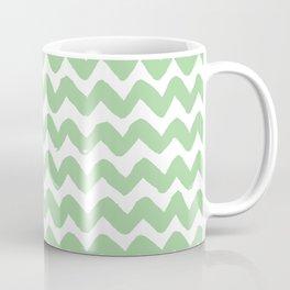 Mint Brushstroke Chevron Pattern Coffee Mug