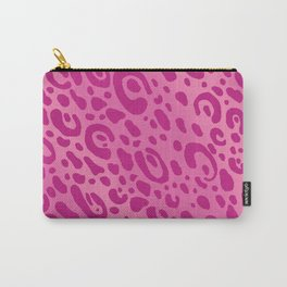 Pink Leopard Print Mug Pattern Carry-All Pouch
