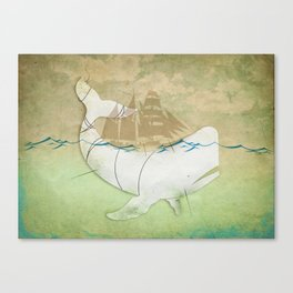 The ghost of Captain Ahab, Moby Dick Canvas Print