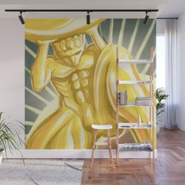 Atlas Shrugged statue Wall Mural