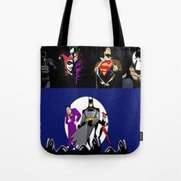 heros an villians Tote Bag