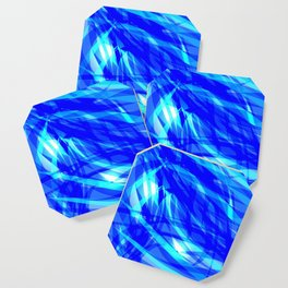 Vector glowing water background made of blue sea lines. Coaster