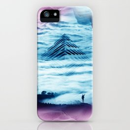 Pyramid Teal iPhone Case