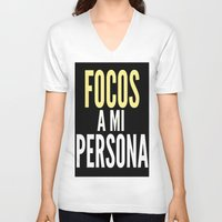 persona V-neck T-shirts featuring FOCOS A MI PERSONA  by Cris Carrasmore