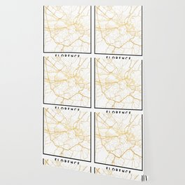 FLORENCE ITALY CITY STREET MAP ART Wallpaper