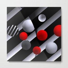 opart balls -3- Metal Print
