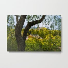 Beautiful garden at Tenryu-ji temple, Kyoto, Japan Metal Print
