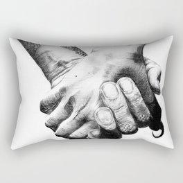 Human Nature: Hands Rectangular Pillow