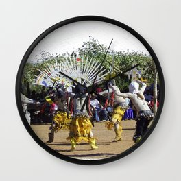 Apache Ghost Dance Wall Clock