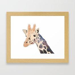 Space Giraffe Framed Art Print