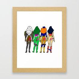 Superhero Butts Love 2 - Team Girls Framed Art Print