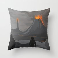 the lord of the rings Throw Pillows featuring Lord Of The Rings by ketizoloto