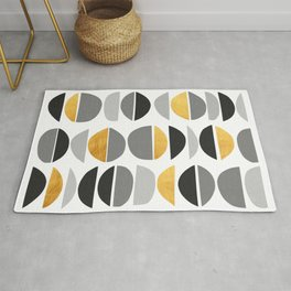 Modern pattern with gold IV Rug