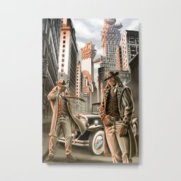 Detectives from other worlds Metal Print