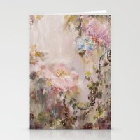 nursery Stationery Cards featuring Flora painting/Nursery by Erin Zhao