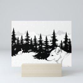 Arctic Animals - Arctic Tundra Mini Art Print