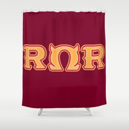Monster University Fraternity : Roar Omega Roar Shower Curtain