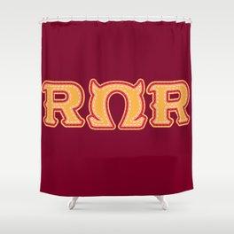Monster University Fraternity : Roar Omega Roar Shower Curtain