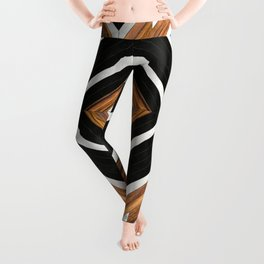 Urban Tribal Pattern No.1 - Concrete and Wood Leggings