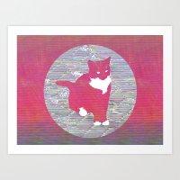 Cat Next Door Art Print
