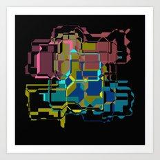 Color theatrics Art Print
