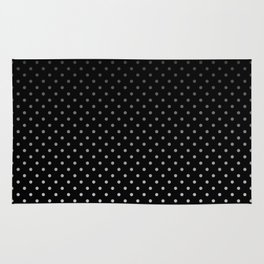 Mini Licorice Black with Faded White Polka Dots Rug