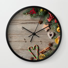 Images Christmas Lollipop Star anise Illicium Appl Wall Clock