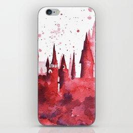 Hogwarts Watercolor Silhouette iPhone Skin