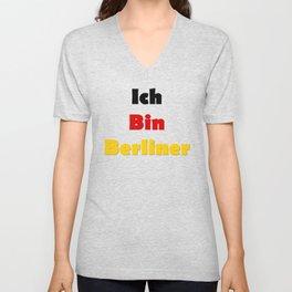Ich Bin Berliner I am Berlin - German Quote Unisex V-Neck