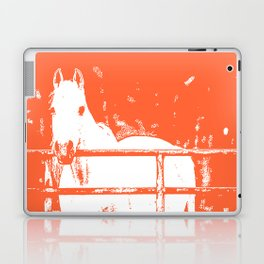 White Horse - Coral Red Laptop & iPad Skin