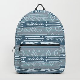 Polynesian Blue Beach Print Backpack