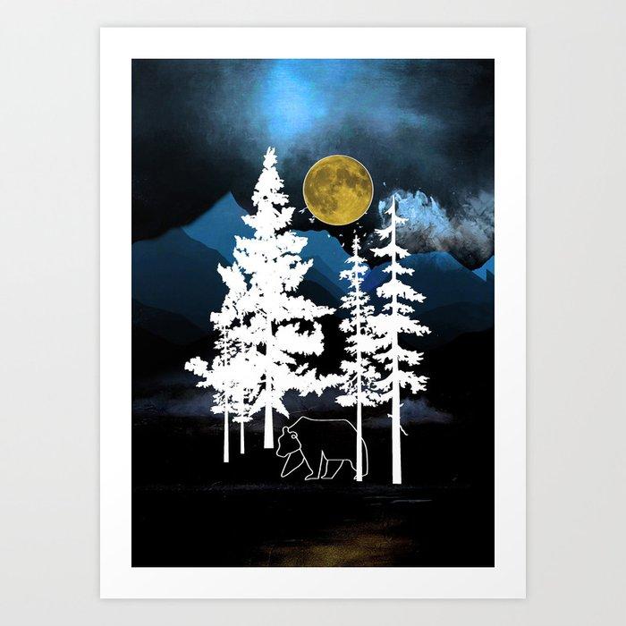 Full Moon Rising II Art Print