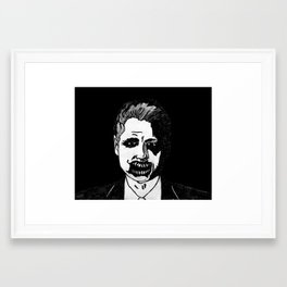 42. Zombie Bill Clinton  Framed Art Print
