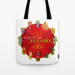 Chinese Zodiac - Year of the Rooster Tote Bag