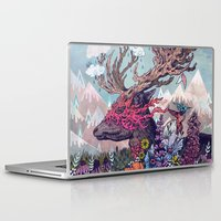 deer Laptop & iPad Skins featuring Journeying Spirit (deer) by Mat Miller