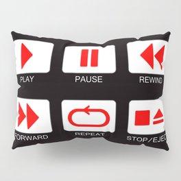 Music Player Button Pillow Sham