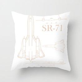 Military Jet SR-71 Blackbird Pilot Airman product Throw Pillow