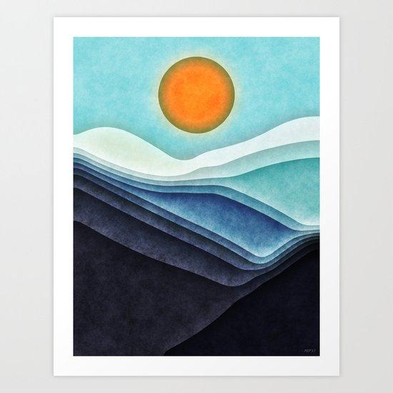 Sunshine Over Blue Mountains Art Print