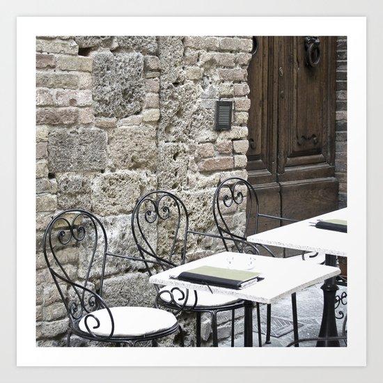Cream Cafe - Tuscany Art Print