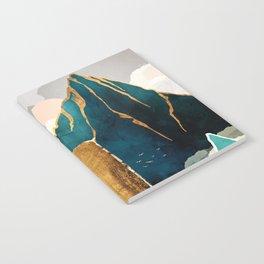 Golden Waterfall Notebook