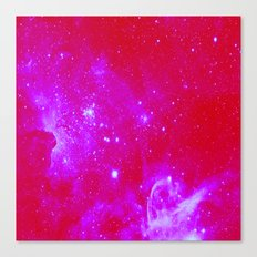 Bright Pink, Fuschia Galaxy Canvas Print