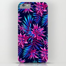 Aechmea Fasciata - Dark Blue/Pink Slim Case iPhone 6s Plus