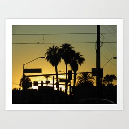While the Sun Sets  Art Print